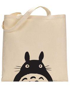 Studio Ghibli Totoro canvas tote bag by BforBertha on Etsy