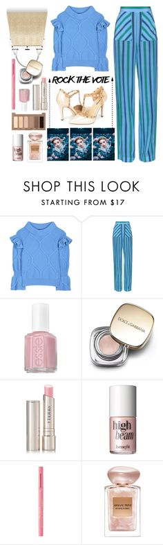 """""""Rock the Vote"""" by dorinela-hamamci on Polyvore featuring Burberry, MSGM, Perrin, Essie, Dolce&Gabbana, By Terry, Benefit, Too Faced Cosmetics, Giorgio Armani and Urban Decay"""