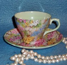 Shelley Rock Garden Chintz Vintage Teacup.......I drink my English tea from this cup daily