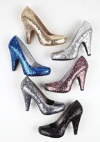 Special Occasion Glitter Heel *Under 40* Nadine Glitter Heel  Style runs 1/2 size small