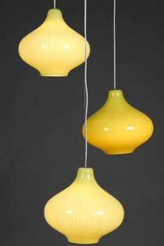 So many lighting choices. The yellow is amazing and looks like the sun or moon! ##LGLimitlessdesign #contest Venini Lamps