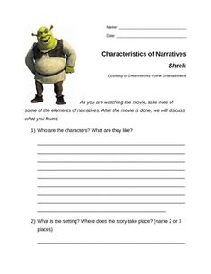 shrek worksheets fairy tales fractured tales fables pinterest shrek student centered. Black Bedroom Furniture Sets. Home Design Ideas