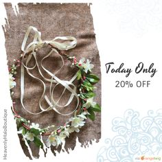 Today Only! 20% OFF this item.  Follow us on Pinterest to be the first to see our exciting Daily Deals. Today's Product: Beautiful silk flower crown Halo headband hair assessory floral garland shabby chic weddings brides flower girls Buy now: https://www.etsy.com/listing/228948678?utm_source=Pinterest&utm_medium=Orangetwig_Marketing&utm_campaign=Fall%20sale   #etsy #etsyseller #etsyshop #etsylove #etsyfinds #etsygifts #musthave #loveit #instacool #shop #shopping #onlineshopping #instashop…