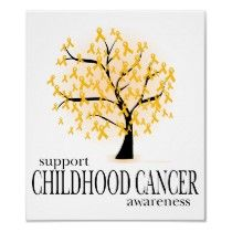 Childhood Cancer Tree Print by fightcancertees