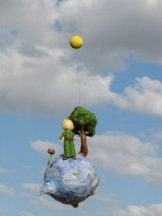Items similar to Waldorf inspired needle felted spring - fairy sitting on a ball on Etsy Prince Nursery, Felt Crafts Patterns, Spring Fairy, Felt Gifts, Felt Mobile, Felt Fairy, Needle Felted, The Little Prince, Waldorf Dolls