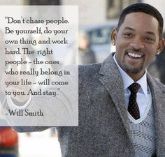 Will Smith - Be Yourself I really need to remember this sometimes!