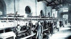 Lavoratrici alla filanda Bressan nel primo Novecento:  anticamente qui si facevano cordami per Venezia