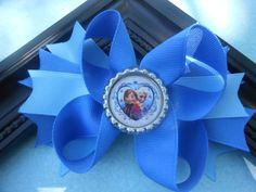 FROZEN Handmade Boutique style stacked bow by SparkleandCoReno, $7.00