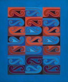 Kahurangi Adsett, Sandy ), New Zealand. Purchased 1988 with New Zealand Lottery Board funds. Maori Designs, Kunst Der Aborigines, Maori Patterns, Tiki Art, New Zealand Art, Nz Art, Art Terms, Maori Art, Kiwiana