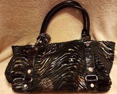 Large-unbranded-Black-Gold-Handbag-PVC-Draw-String-Bag-Bling-Shoulder-Bag
