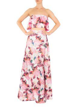 Alquila esta falda larga con corte en A , espectacular estampado floral y la puedes combinar con el top de la falda  o cualquiera de nuestros tops. Una opción excelente para eventos en tierra caliente. Strapless Dress, Princess, Floral, Dresses, Fashion, Vestidos, Long Skirts, Dress Designs, Earth