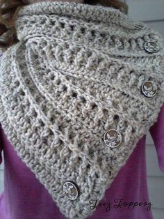 Textured Button Cowl by Teez Topperz | Crocheting Pattern - Looking for your next project? You're going to love Textured Button Cowl by designer Teez Topperz. - via @Craftsy