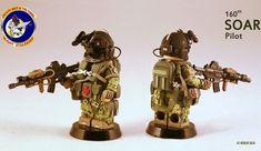 160th SOAR Night Stalker Pilot Custom Minifigure