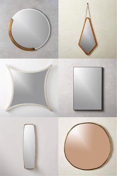 Shop mirrors for your bathroom, bedroom, entryway and more... all under $200. Food Graphic Design, Infinity Mirror, Smoke And Mirrors, Sunburst Mirror, Through The Looking Glass, Wooden Decor, Eclectic Style, Bud Vases, Modern Bedroom