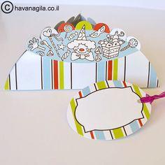 12 Mishloach mManot package Hamantaschen shape by HavaNagila, great gift basket for purim! ₪34.90