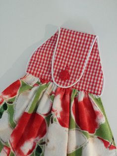 Apples Hanging Hand Towel All Cotton Dish Tea Towel by CraftyWanda