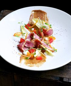 photo of Duck Pastrami; Medjool Date and Blood Orange Salad