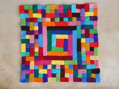 Crocheted Bauhaus-inspired afghan, by crochetbug13 on Flickr (found in the knithacker pool).