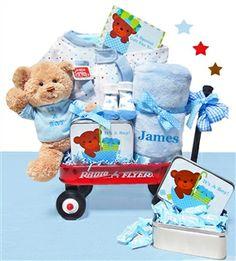 Welcome Baby Boy Gift Wagon