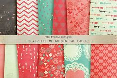 Never Let Me Go Digital Papers by 7th Avenue Designs on @creativemarket