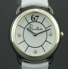 Pomellato 67 Limited edition Ladies Swiss watch Diamonds on dial and white Leather strap Italian Leather, White Leather, Italian Luxury Brands, Italian Jewelry, Pomellato, Jewelry Companies, Antique Items, Elegant Woman, 6 Years