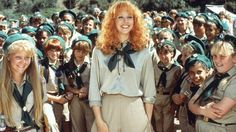 "Shelley Long as Phyllis Nefler in Troop Beverly Hills. The Look: Beverly Hills housewife goes camping. The Quote: ""I may be a beginner at some things, but I've got a black belt in shopping! Great Films, Good Movies, Teen Movies, Movies Showing, Movies And Tv Shows, Camping Tv Show, Camping Gear, Troop Beverly Hills, Sleepaway Camp"
