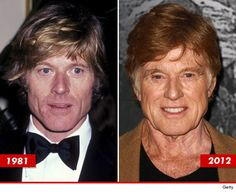 A couple years ago, my friends told me I was nuts when I said Robert Redford was wearing a toupee. I don& think they& say that now. I still adore the man and he looks great for Actors Then And Now, Celebrities Then And Now, Young Celebrities, Celebs, Famous Child Actors, Age Progression, Good Genes, People Of Interest, Robert Redford