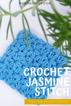 Ever wondered how to crochet the Jasmine Stitch? This detailed crochet tutorial from Morine's Shop is definitely the way to go. #CrochetTutorial #JasmineStitch #CrochetStitches #ElegantCrochet #MorinesShop Different Crochet Stitches, Crochet Stitches Patterns, Crochet Designs, Stitch Patterns, Tunisian Crochet, Learn To Crochet, Chrochet, Knitting Projects, Crochet Projects
