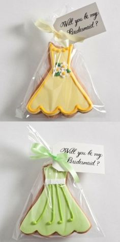 Will you be my Bridesmaid? @Mandy Shirley how much would it cost for you to bake and mail these? They're cute AND yummy!