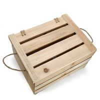 Natural wooden crate with lid size medium $10.00