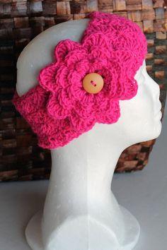 Earwarmer / Headband  Women  Teen  Hot Pink by SnugableTouches, $10.00