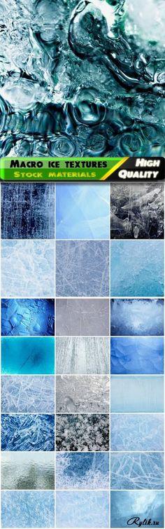 Лед и вода - текстуры для дизайна