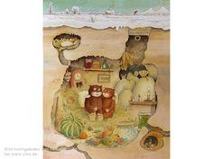 Hamsterhöhle - Der Rabe im Schnee / Erwin Moser House Clipart, Rabe, Cute House, My Childhood, Disney Characters, Fictional Characters, Clip Art, Disney Princess, Drawings
