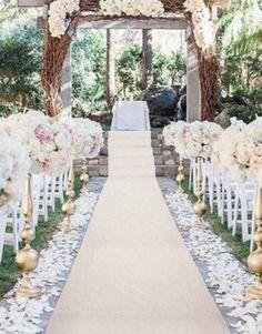 Wedding Walkway, Wedding Aisle Outdoor, Aisle Runner Wedding, Garden Wedding, Arab Wedding, Ivory Wedding, Floral Wedding, Wedding Flowers, Wedding Isle Decorations