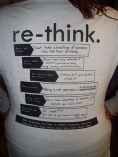 Re-think.  Stop blaming victims & start blaming rapists.