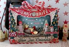 TIM HOLTZ HOLIDAY INSPIRATION SERIES 2017: MERRY & BRIGHT VIGNETTE BOX