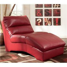 Red Chaise Lounge Ashley Furniture Home Design Ideas