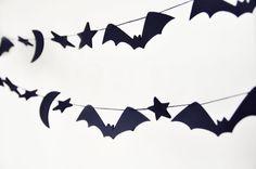 bat halloween garland