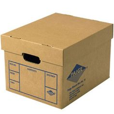 """File Boxes 12 Pack 15""""x12""""x10"""" ideal for files and papers as well as other desk items. SAVES TIME- Our specially designed file boxes instantly assemble in one step. STURDY-These cardboard file boxes are double-walled on all four sides and the bottom, guaranteeing superior stacking strength. SECURE- Our three-inch tight fitting lid keeps documents where they belong. Moving Kit, Moving Boxes, Toy Storage Bins, Storage Boxes, Construction Paper Storage, Clipboard Storage, Wardrobe Boxes, Cardboard Toys, Cardboard Playhouse"""