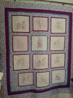 Rosalie's Summer Quilt,  notice all the hand work ? We didnt #quilt over just right up to.