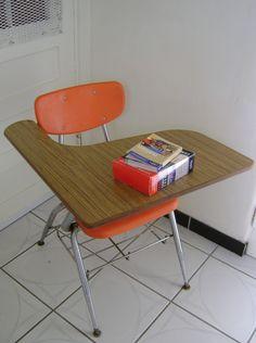 old school desk.. jr high & high school