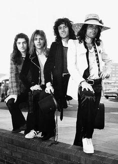 Queen, 1974, featuring Freddie Mercury's hat, by Dave Gerrard.