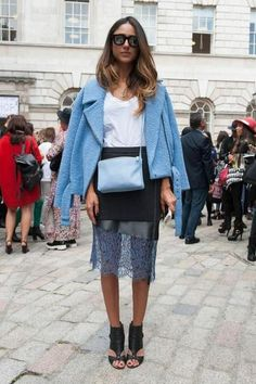 lady in baby blue | #streetstyle