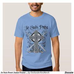 Je Suis Prest Jamie Fraser Motto Outlander  Men's Basic Dark T-Shirt