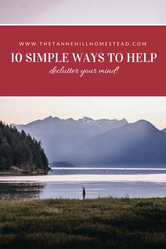 10 Simple Ways To Help Declutter Your Mind | www.thetannehillhomestead.com