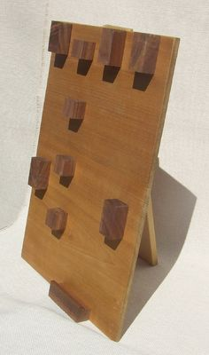 Wood Jewelry Display Hanger - Modern Block Hooks for Showcasing Necklaces and Bracelets by 3crows