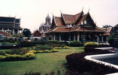 Thailand. Wat Rachanada and Loha Prasat, near Khao San Road, Bangkok
