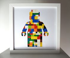 LEGO Mann 3D Lego Kunst von CoolSource auf Etsy