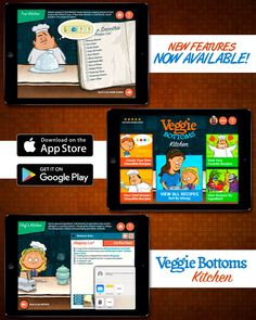 The new Veggie Bottoms Kitchen is now available on the App Store and Google Play Store! New features include improved recipe hints, easier readability and user interface, and customizable shopping list including share to text, notes, e-mail, and social media!