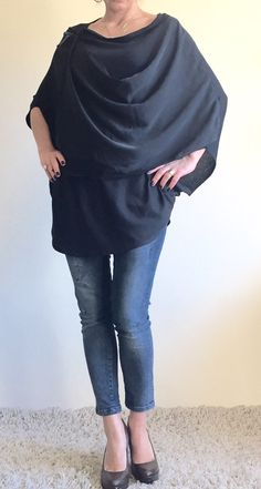 A personal favorite from my Etsy shop https://www.etsy.com/listing/228717726/maxi-asymmetrical-black-tunicoversized
